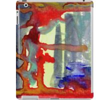 gold and red iPad Case/Skin