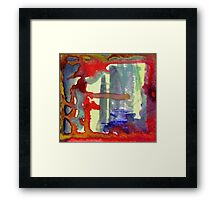 gold and red Framed Print