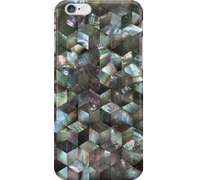Mother Of Pearl Black Tile Star Diamond  iPhone Case/Skin