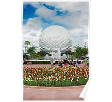 Epcot in Spring Poster