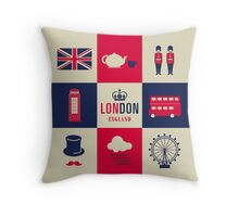 City Of London United Kingdom England Throw Pillow