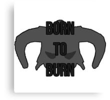 "Skyrim - Dragonborn ""Born to Burn"" Canvas Print"