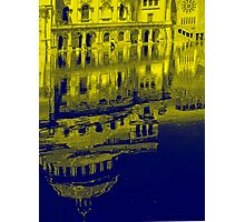 Yellow Reflection Photographic Print
