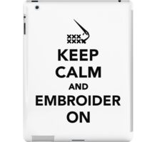 Keep calm and embroider on iPad Case/Skin