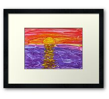 Golden Sunset Framed Print