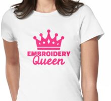 Embroidery Queen Womens Fitted T-Shirt