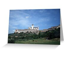 St Francis in Assisi Greeting Card
