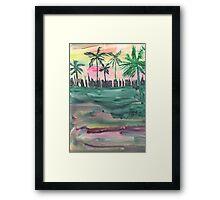 Florida City Skyline Framed Print