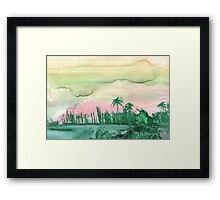 Florida City Skyline2 Framed Print