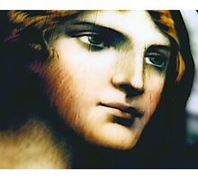 Angel - Stained Glass - Companion Portrait Photographic Print