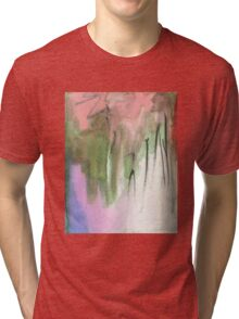 green and pink Tri-blend T-Shirt