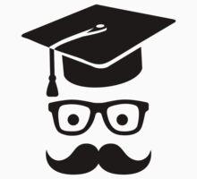 Student Graduation hat mustache Baby Tee