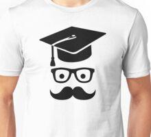 Student Graduation hat mustache Unisex T-Shirt