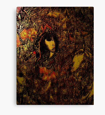 Life is coloured brown Canvas Print