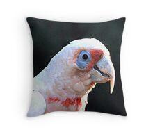 Long Billed Corella Throw Pillow
