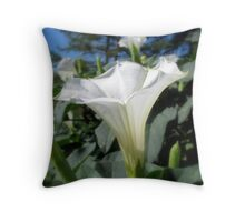 Angel's Trumpet Throw Pillow