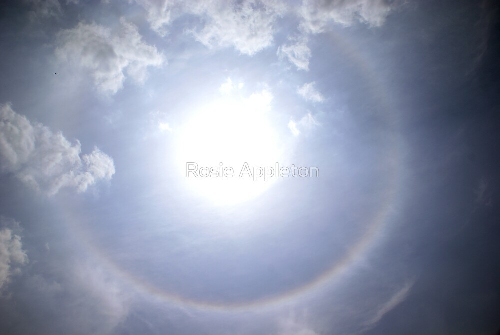 Sun halo near Kisoro, Uganda by Rosie Appleton