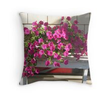 Hot Pink in the City Throw Pillow