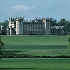 Floors castle from across the river caravan park Kelso Northumbria England 19840529 0084  by Fred Mitchell