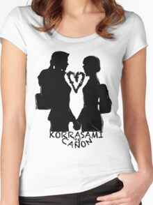 KORRASAMI IS CANON v2 Women's Fitted Scoop T-Shirt