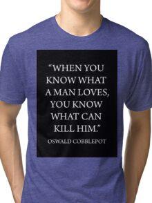 What A Man Loves Tri-blend T-Shirt