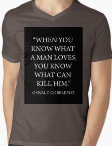 What A Man Loves Mens V-Neck T-Shirt