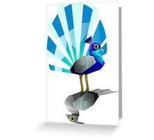 Peacock duo Greeting Card