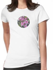 Pink and Red Plumeria Womens Fitted T-Shirt