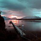 Te Anau, South Island, New Zealand. by Ralph de Zilva