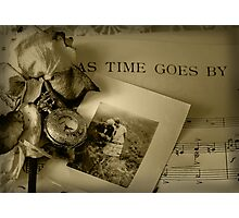 As Time Goes By ... Photographic Print