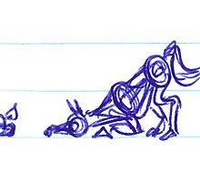 Horsey Doodle #4 - For Sarah Bentvelzen by Jodi Franzke