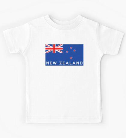 flag of New Zealand Kids Tee