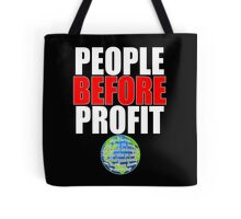 People Before Profit - black Tote Bag