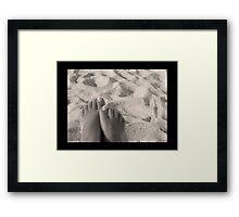Sandy Feet Framed Print