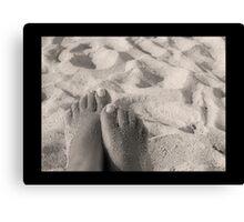 Sandy Feet Canvas Print