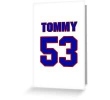 National football player Tommy Hart jersey 53 Greeting Card