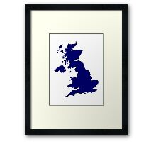 Great Britain Map Framed Print