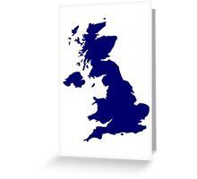 Great Britain Map Greeting Card