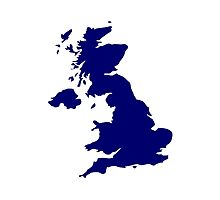 Great Britain Map Photographic Print