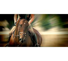 Thoroughbred Rush Photographic Print