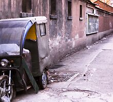 Trike in Hutong by Jeff Harris