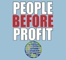 People Before Profit - black Kids Tee
