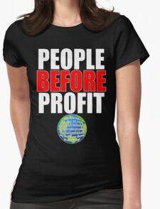 People Before Profit - black Womens Fitted T-Shirt