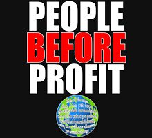People Before Profit - black Unisex T-Shirt