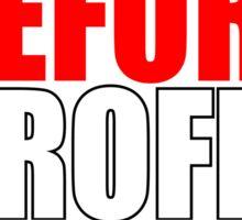 People Before Profit - black Sticker