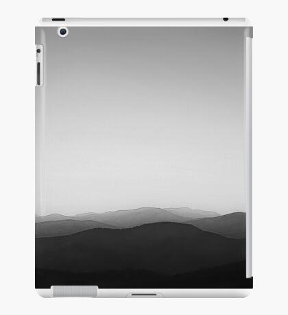 Blue Ridge Mountains BW iPad Case/Skin