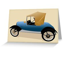 1921 Richardson Light Car  Greeting Card