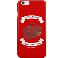 Conagher Construction (RED) iPhone Case/Skin