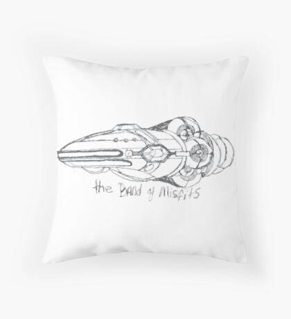 Band of Misfits Ship Concept Art Throw Pillow