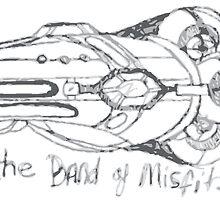 Band of Misfits Ship Concept Art by bandofmisfits